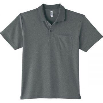 ドライポロシャツ(ポケット付)901.ミックスグレー