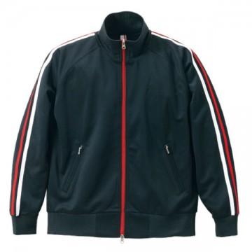 ジャージジャケット9830.ブラック×レッド×ホワイト