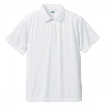 ドライシルキータッチポロシャツ001.ホワイト