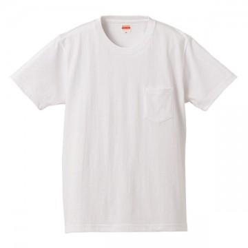 スーパーヘビーウェイトTシャツ(ポケット付)001.ホワイト