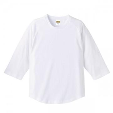 ラグラン3/4スリーブTシャツ001.ホワイト