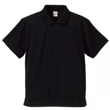 ドライアスレチックポロシャツ002.ブラック
