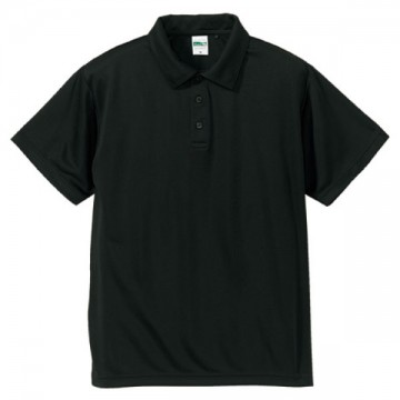 ドライシルキータッチポロシャツ002.ブラック