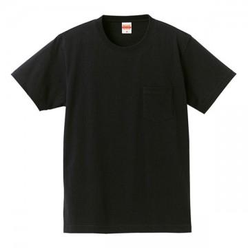 スーパーヘビーウェイトTシャツ(ポケット付)002.ブラック
