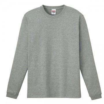 ハイグレードロングTシャツ003.杢グレー