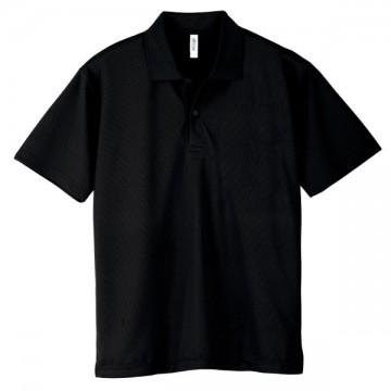 ドライポロシャツ005.ブラック