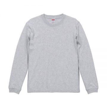 ロングスリーブTシャツ(袖口リブ仕様)005.アッシュ