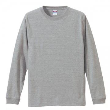 ロングスリーブTシャツ(袖口リブ仕様)006.ミックスグレー