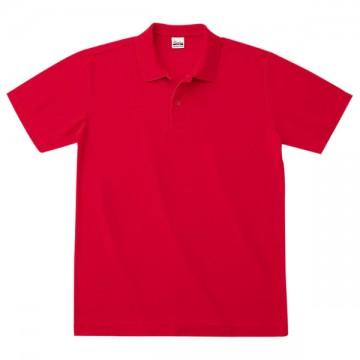 カジュアルポロシャツ010.レッド