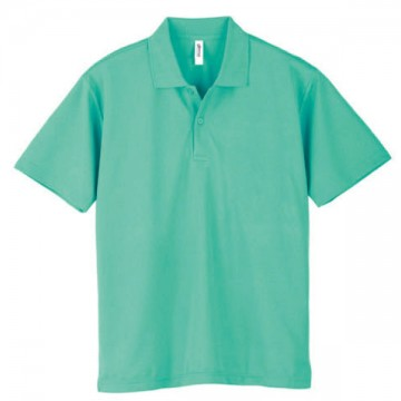 ドライポロシャツ026.ミントグリーン