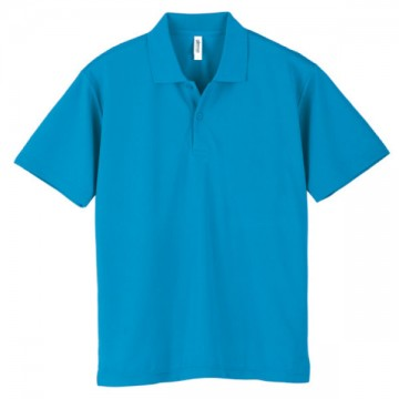 ドライポロシャツ034.ターコイズ