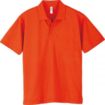 ドライポロシャツ038.サンセットオレンジ