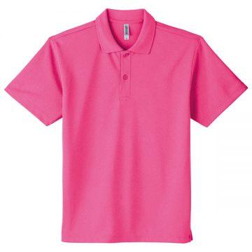 ドライポロシャツ049.蛍光ピンク