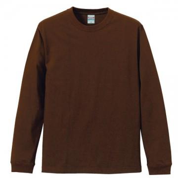 ロングスリーブTシャツ(袖口リブ仕様)052.ダークブラウン