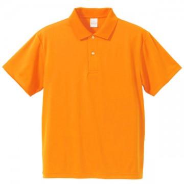 ドライアスレチックポロシャツ064.オレンジ