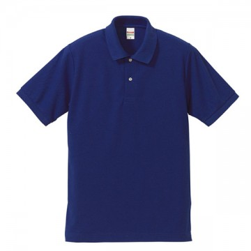 ドライカノコポロシャツ084.コバルトブルー