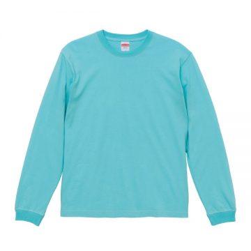 ロングスリーブTシャツ(袖口リブ仕様)094.パステルエメラルド