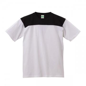 スーパーヘビーウェイトフットボールTシャツ1002.ホワイト×ブラック