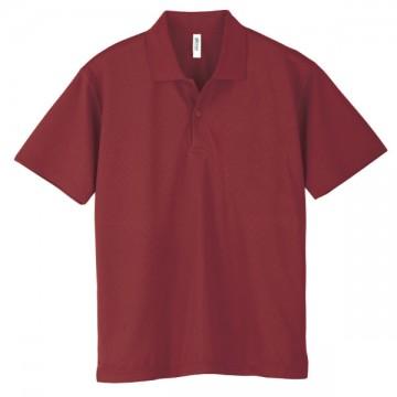 ドライポロシャツ112.バーガンディ