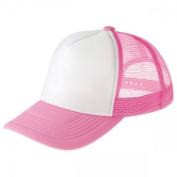 イベントメッシュキャップ147.ピンク×ホワイト