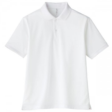 【SALE】ベーシックドライポロシャツ15.ホワイト