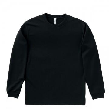 ドライロングスリーブTシャツ16.ブラック