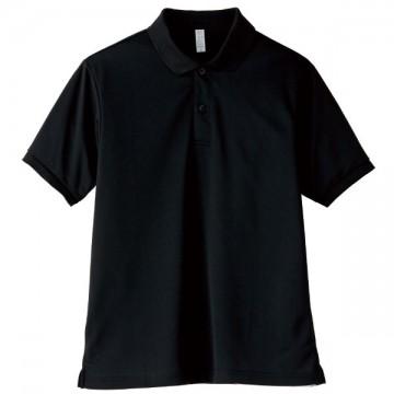 【SALE】ベーシックドライポロシャツ16.ブラック