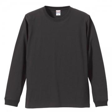 ロングスリーブTシャツ(袖口リブ仕様)165.スミ