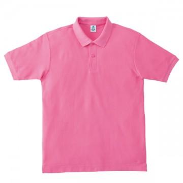 鹿の子ドライポロシャツ19.ピンク