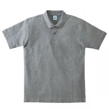 鹿の子ドライポロシャツ2.杢グレー