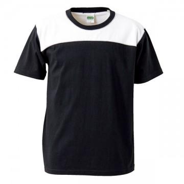 スーパーヘビーウェイトフットボールTシャツ2001.ブラック×ホワイト