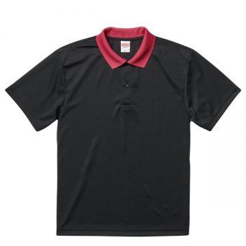 ドライアスレチックポロシャツ2065.ブラック×トロピカルピンク