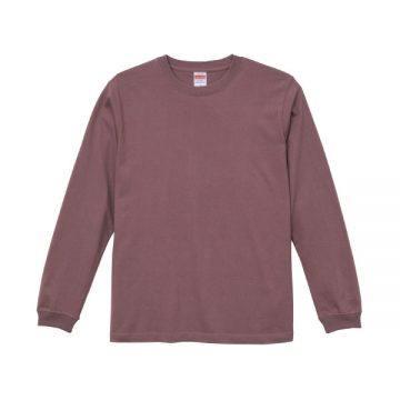 ロングスリーブTシャツ(袖口リブ仕様)236.メルロー