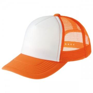 イベントメッシュキャップ302.オレンジ×ホワイト
