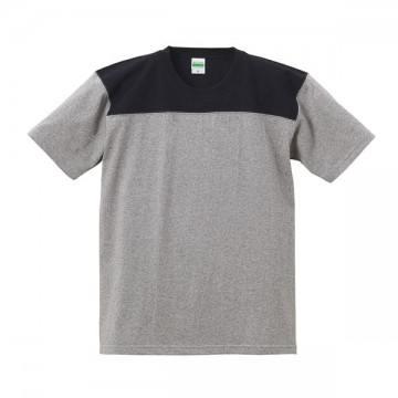 スーパーヘビーウェイトフットボールTシャツ3202.ミックスグレー×ブラック