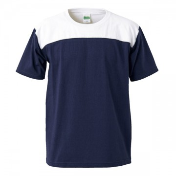 スーパーヘビーウェイトフットボールTシャツ4001.ネイビー×ホワイト