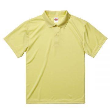 ドライアスレチックポロシャツ487.ライトイエロー