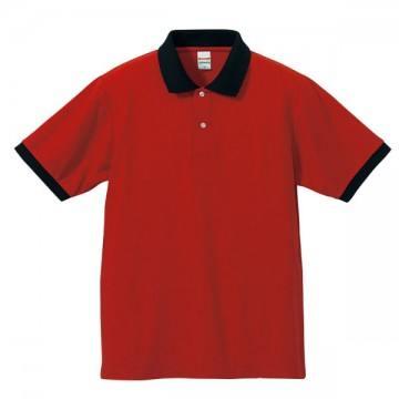 ドライカノコポロシャツ5602.レッド/ブラック