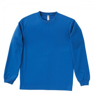 ドライロングスリーブTシャツ7.ロイヤルブルー