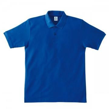 鹿の子ドライポロシャツ7.ロイヤルブルー