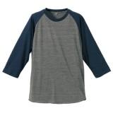 トライブレンドラグラン3/4スリーブTシャツ