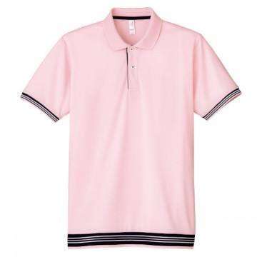 裾ラインリブポロシャツ9.ライトピンク