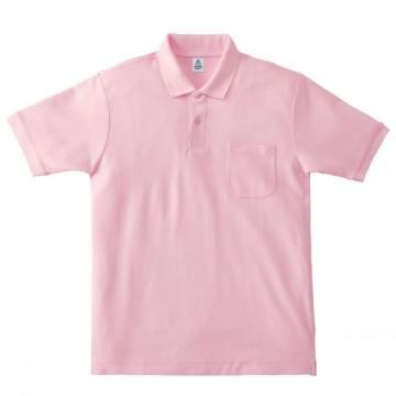 ポケット付鹿の子ドライポロシャツ9.ライトピンク