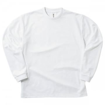 ドライロングスリーブTシャツ001.ホワイト