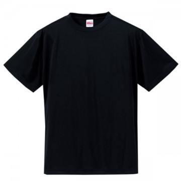 ドライシルキータッチTシャツ002.ブラック