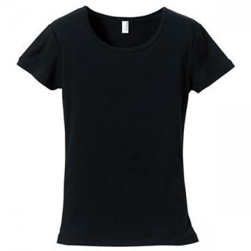 CVCフライスTシャツガールズ002.ブラック