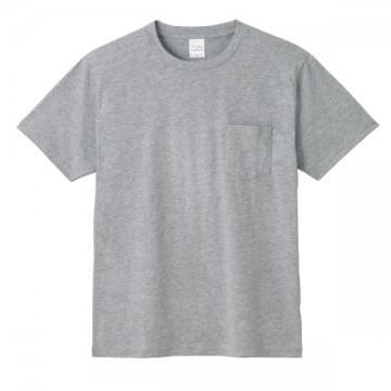 ポケットTシャツ003.杢グレー