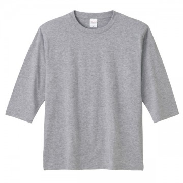 5分袖Tシャツ003.杢グレー