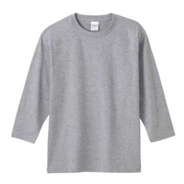 7分袖Tシャツ003.杢グレー