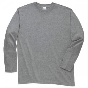 ロングスリーブTシャツ003.杢グレー